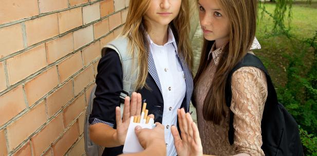 Meisjes willen geen sigaret