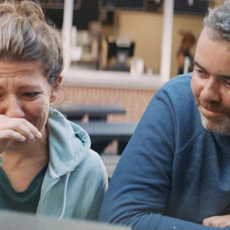 Martijn met zijn vrouw