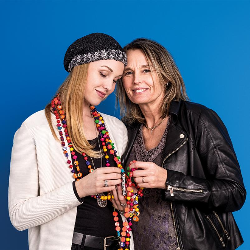 Lisanne en haar moeder Ilona