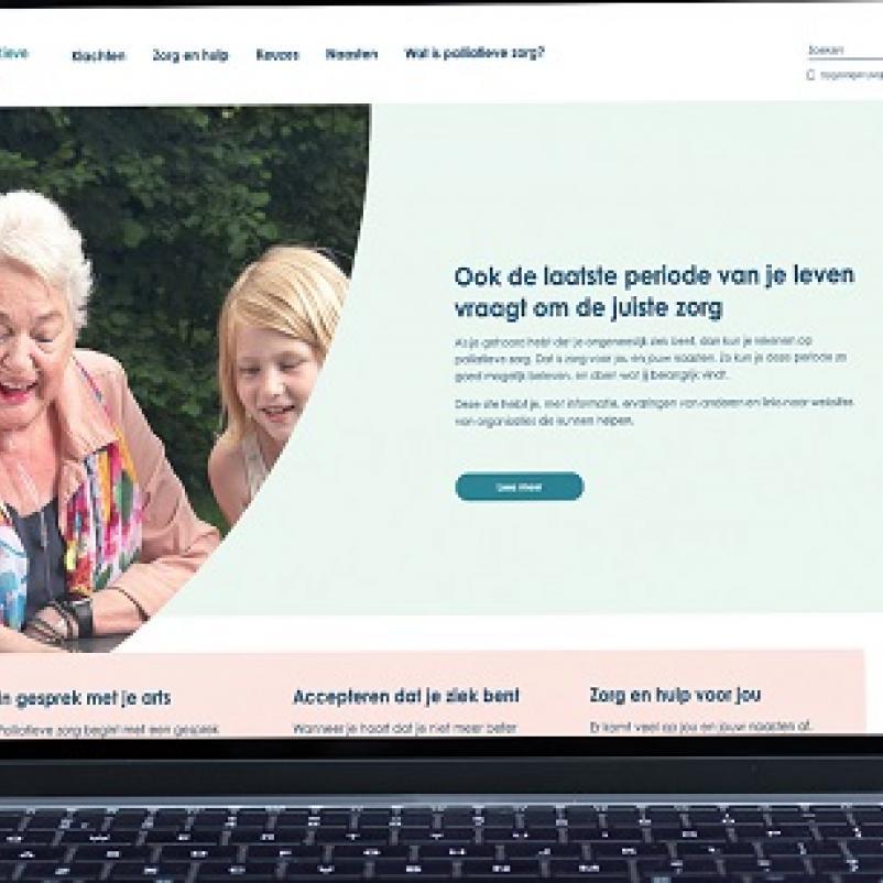 beeldscherm overpalliatievezorg.nl
