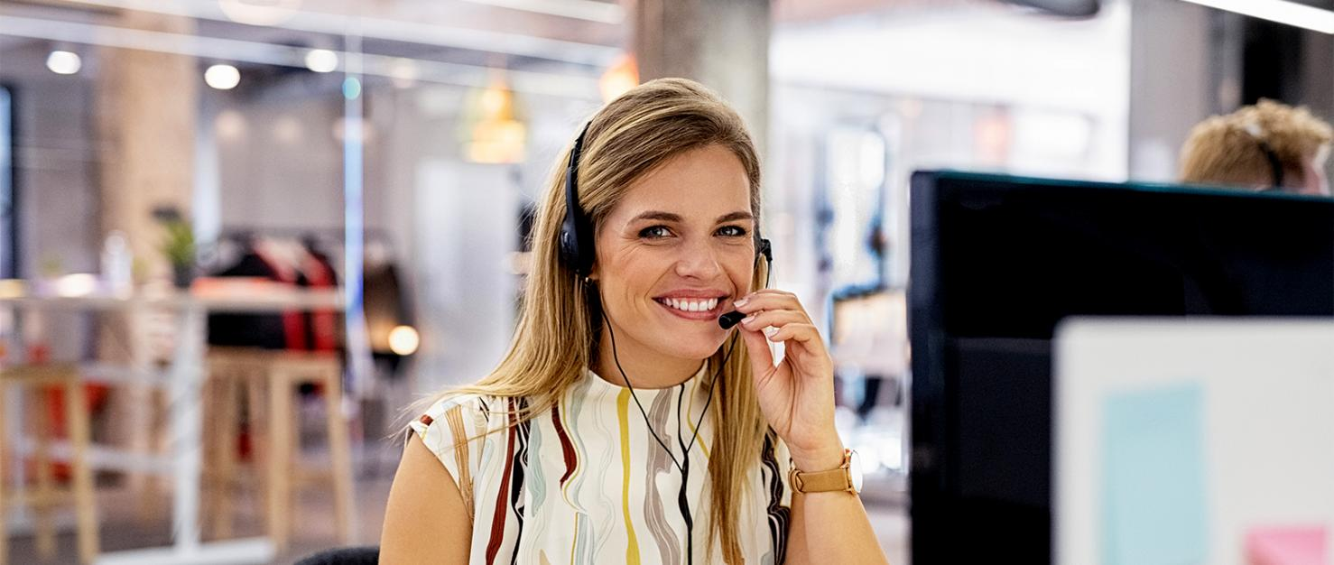 Vrouw met headset