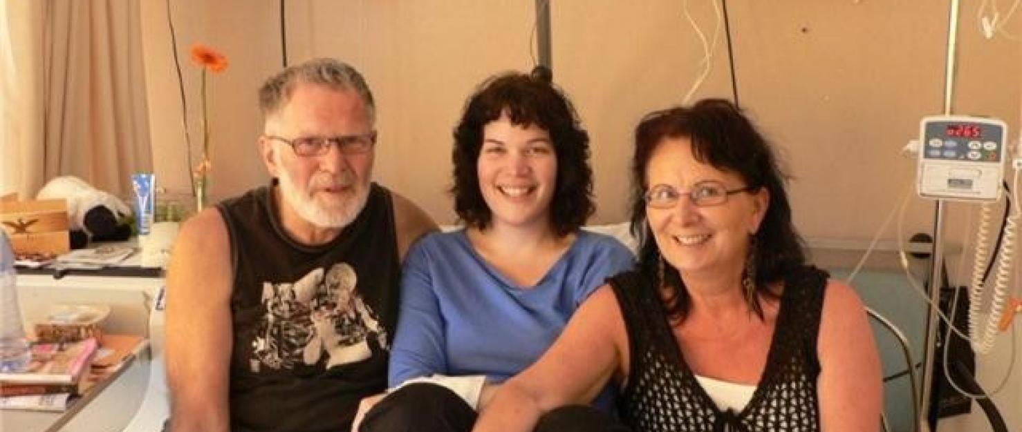 Sigrid met haar ouders